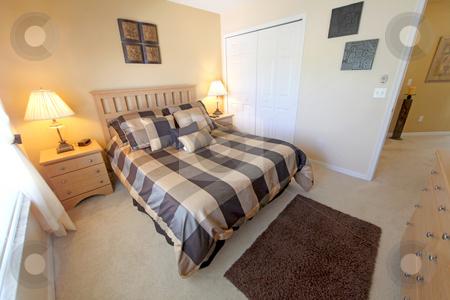 Queen Bedroom stock photo, A Queen Bedroom, Interior Shot in a Home by Lucy Clark