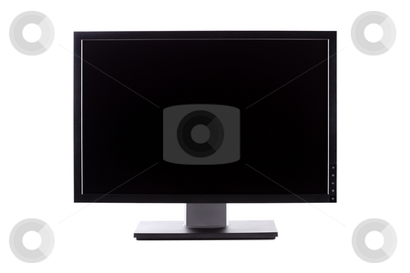 Professional lcd monitor stock photo, Professional ips panel wide lcd monitor, isolated on white by Nikola Spasenoski