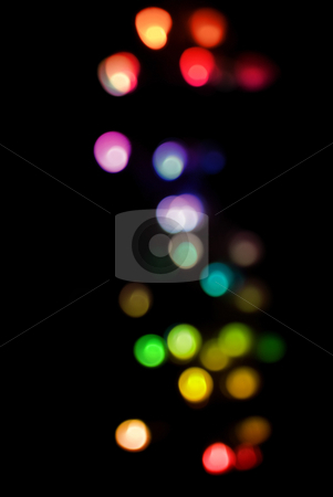 Defuse abstract lights stock photo, A festive background of colorful defuse lights by Stephen Gibson