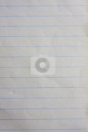 Old lined paper  stock photo, Old lined paper from note book by Ingvar Bjork