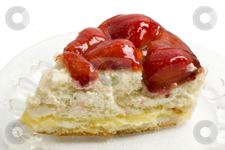 delicious strawberry cheese cake  stock photo, Slice of delicious strawberry cheese cake closeup by Ingvar Bjork