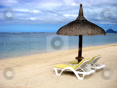 Tropical beach in Mauritius  stock photo, Tropical beach in Mauritius by Ingvar Bjork