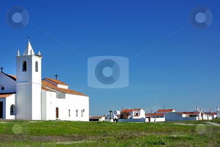 Church in Luz village. stock photo, Church in Luz village. Alentejo region, Portugal. by Inacio Pires