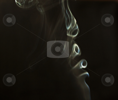 Smoke stock photo, White smoke flying over a black background by Fabio Alcini