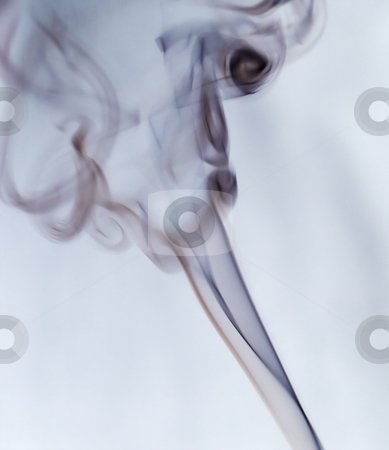 Smoke stock photo, Black smoke flying over a white background by Fabio Alcini