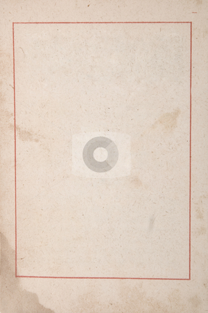 ancient paper with age marks and red frame stock photo, Texture, grunge, ancient paper with age marks and red frame by caimacanul