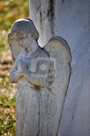 Gravesite - Angel - closeup stock photo, Gravesite - Angel - closeup by Liane Harrold