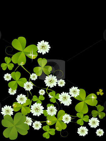 Clover card stock photo, Celebration card with clover for St. Patrick's Day design by Richard Laschon