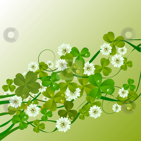 St. Patrick stock photo, St. Patrick's Day design background by Richard Laschon
