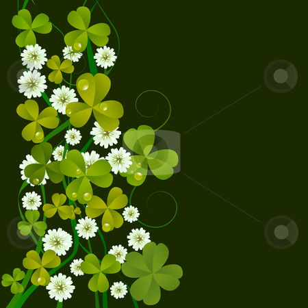 St. Patrick's Day card stock photo, St. Patrick's Day design background, celebration card by Richard Laschon