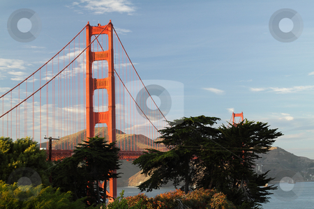 Golden Gate Bridge stock photo, View of Golden Gate Bridge, San-Francisco, California by Olena Pupirina