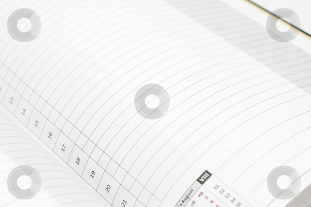 Ruled diary stock photo, White lined diary page with black numbers by Olena Pupirina