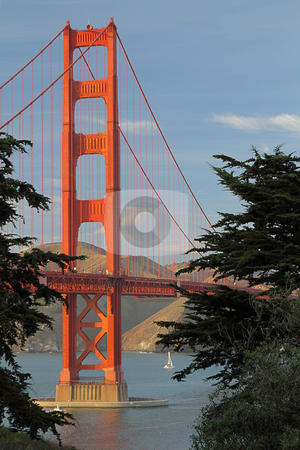 Golden Gate Bridge stock photo, View of Golden Gate Bridge, San-Francisco Bay, California, USA by Olena Pupirina