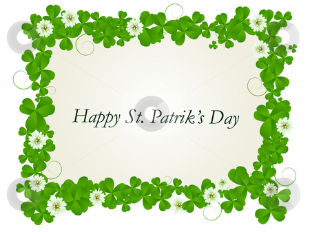 Happy St. Patrick card stock photo, Happy St. Patrick's day celebration card by Richard Laschon