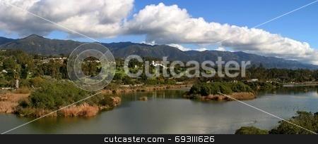 Santa Barbara stock photo, Panorama of the Santa Barbara Mountains by Henrik Lehnerer