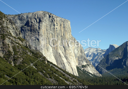 El Capitan stock photo, El Capitan is one of the magnificent mountains in Yosemite. by Henrik Lehnerer