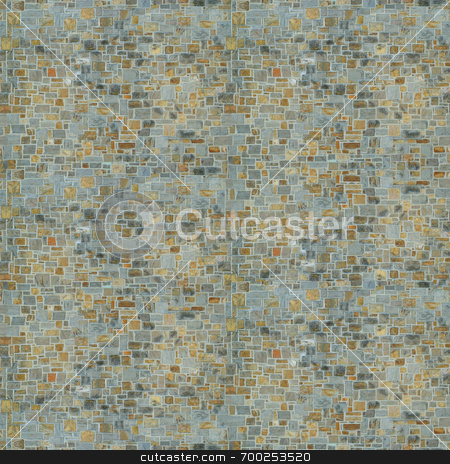 Flat Stone Wall stock photo,  by J. Gracey Stinson