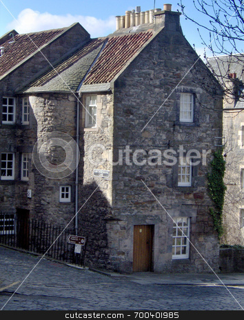 Edinburgh old village house stock photo,  by Alexander Wilson