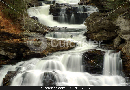 Cullasaja Cascades stock photo,  by Lori Walden