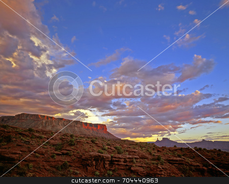 Castle Valley stock photo, Fisher Mesa in Castle Valley near Moab, Utah. by Mike Norton