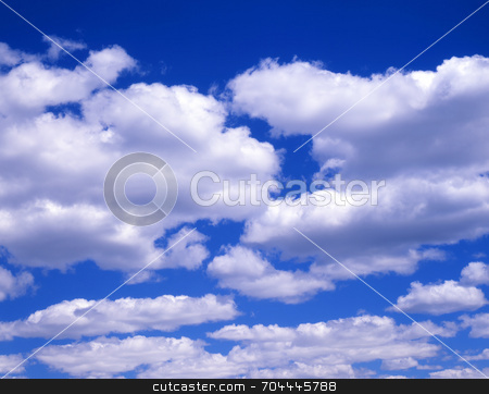 Clouds stock photo, White clouds in a blue sky. by Mike Norton