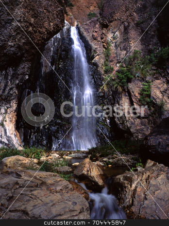 Desert Waterfall stock photo, A waterfall in Big Bend National Park, Texas. by Mike Norton