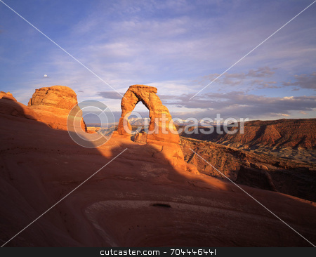 Delicate Arch stock photo, Delicate Arch in Arches National Park, Utah. by Mike Norton