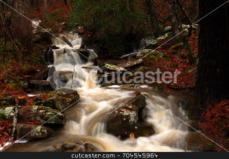 Cascading Creek stock photo,  by Lori Walden