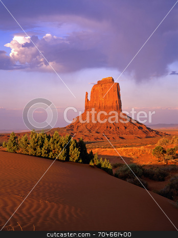 East Mitten Butte stock photo, The East Mitten Butte in Monument Valley, Arizona. by Mike Norton
