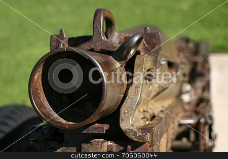 Cannon barrel stock photo, Canon in the Plaza Park in Ventura California by Henrik Lehnerer