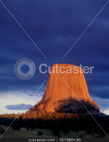 Devils Tower stock photo, Devils Tower National Monument, Wyoming. by Mike Norton