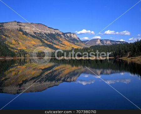Havaland Lake stock photo, Havaland Lake in the San Juan National Forest of Colorado. by Mike Norton