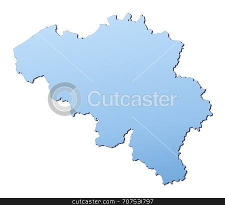 Map of Belgium stock photo, Belgium map filled with light blue gradient. High resolution. Mercator projection. by Jiri Moucka