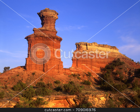Lighthouse Formation stock photo, The Lighthouse Formation in Palo Duro Canyon State Park, Texas. by Mike Norton