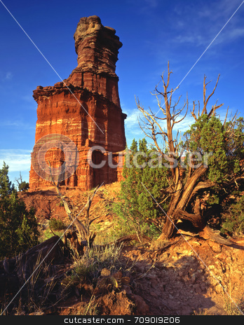 LightHouse Formation stock photo, The Lighthouse Formation in Palo Doro Canyon State Park, Texas. by Mike Norton