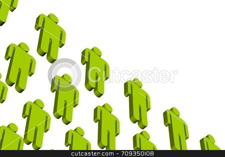 Workers stock photo, A concept image of workers in line, viewed from below. by Daniel Wiedemann