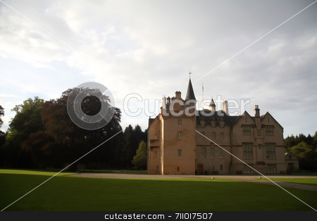 Brodie Castle stock photo, The Brodie Castle, in the Scottish Highlands. by Daniel Wiedemann
