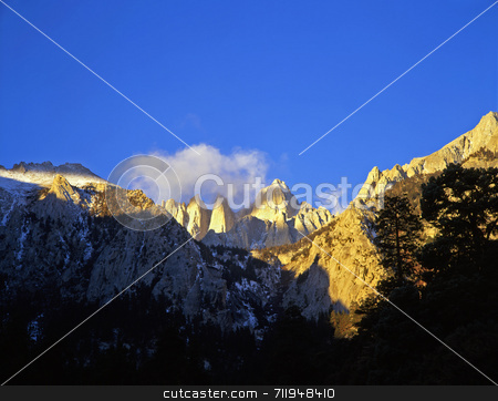 Mt. Whitney stock photo, Mt. Whitney in the Inyo National Forest of California. by Mike Norton