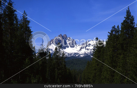 Mt. Heyburn stock photo, Mt. Heyburn in the Sawtooth National Forest of Idaho. by Mike Norton