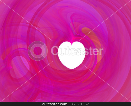 Fractal stock photo, A fractal rendering with a heart shape by Stephen Gibson