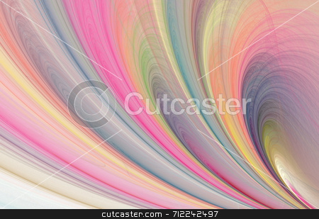 Fractal stock photo, A fractal rendering with multicolours by Stephen Gibson