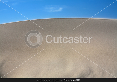 Sand Dunes Frontal stock photo, Sand dunes with a nice blue sky and white clouds! by Daniel Wiedemann