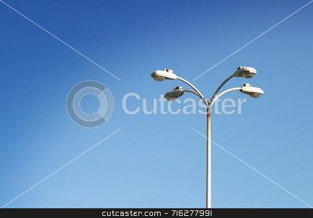 Streetlamp stock photo, Parking lot light at the Oxnard airport by Henrik Lehnerer