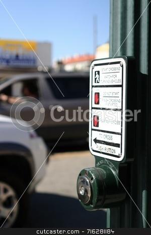 Push Button stock photo,  by Henrik Lehnerer
