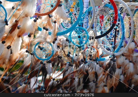 Dream Catchers stock photo, Dream Catchers for sale at an outdoor market by Philippa Willitts
