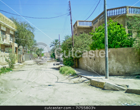 Iraqi Side Street stock photo, Deserted side street in Diwaniyah City Iraq, by Stefan Edwards