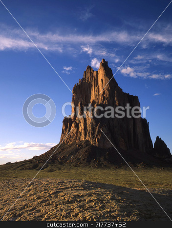 Shiprock stock photo,  by Mike Norton