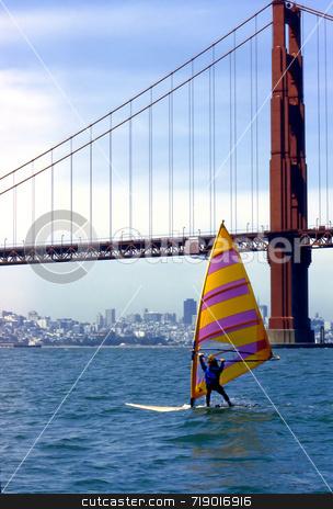 Board Sailing stock photo,  by Marlene Cabais