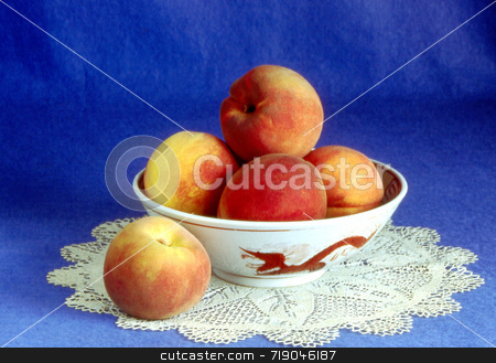 Peaches and Lace stock photo,  by Marlene Cabais