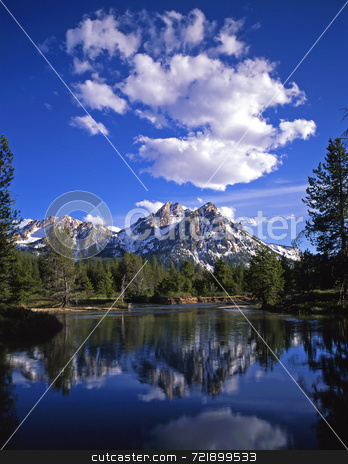 Mt. McGown stock photo, Mt. McGown in the Sawtooth National Forest of Idaho. by Mike Norton